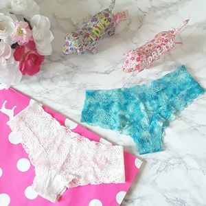 2 PINK VS VICTORIA'S SECRET  Cheekster Panties